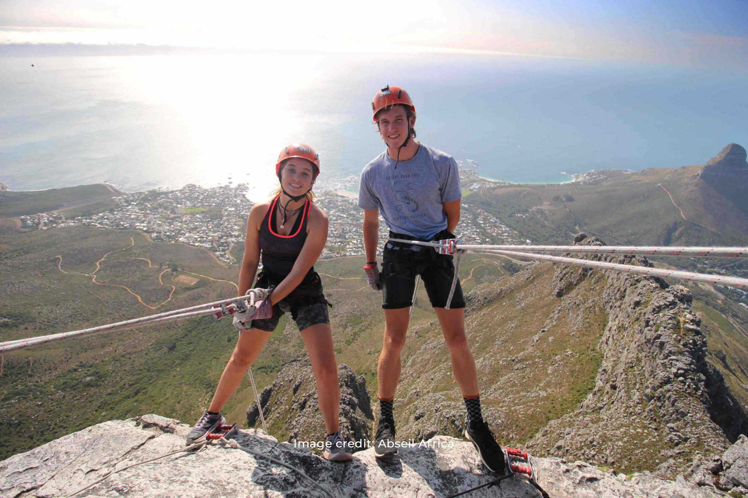 Abseling Table Mountain with Abseil Africa
