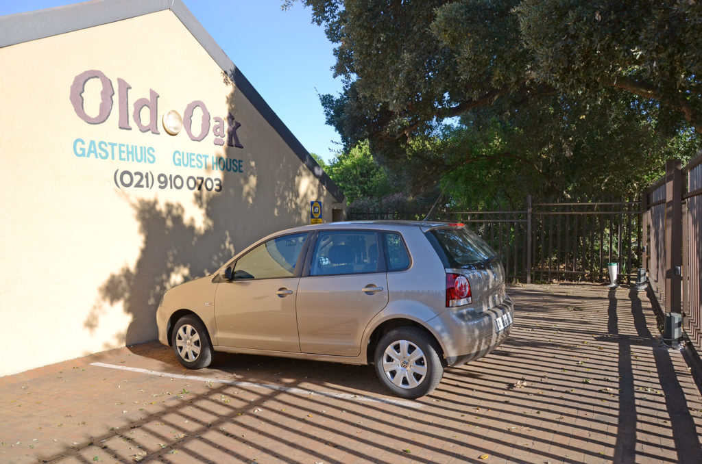 Secure parking @ Old Oak Guest House